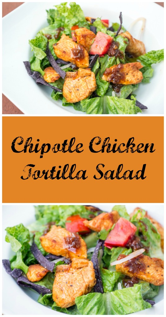 Chipotle Chicken Tortilla Salad | Sew You Think You Can Cook | http://sewyouthinkyoucancook.com