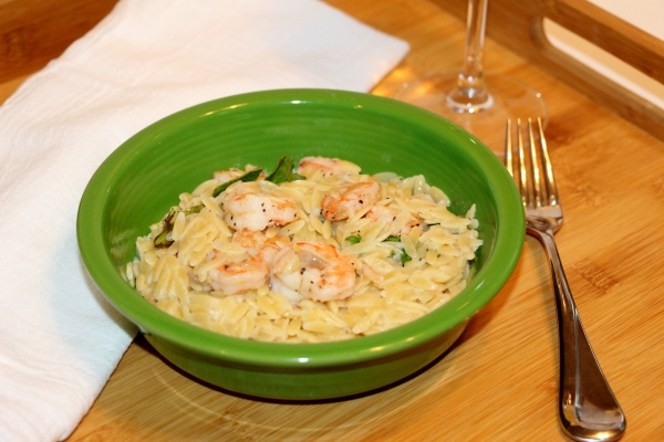 Lemony Shrimp Scampi with Orzo 2