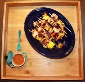 Chicken and Pineapple Kebobs with Honey Chipotle Glaze 1