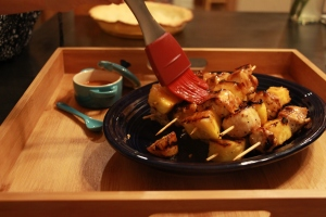 Chicken and Pineapple Kebobs with Honey Chipotle Glaze 2