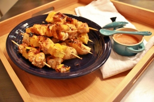 Chicken and Pineapple Kebobs with Honey Chipotle Glaze 3