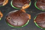 Caramel Filled Chocolate Avocado Cupcake
