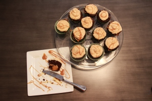 Caramel Filled Chocolate Avocado Cupcakes with Peanut Butter Caramel Frosting 4