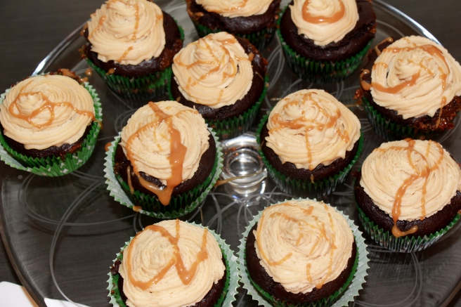 Caramel Filled Chocolate Avocado Cupcakes with Peanut Butter Caramel Frosting 3