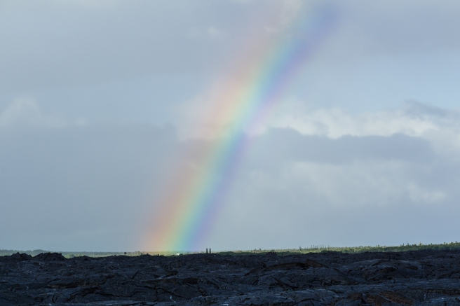 Rainbow Over Lava