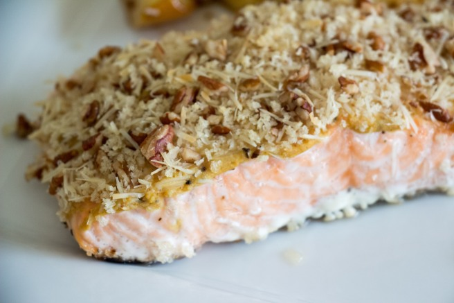Pecan Crusted Salmon | Sew You Think You Can Cook | http://sewyouthinkyoucancook.com