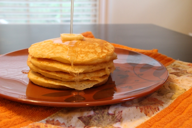Buttermilk Pancakes & Pear Syrup