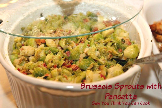 Brussels Sprouts with Pancetta  Sew You Think You Can Cook