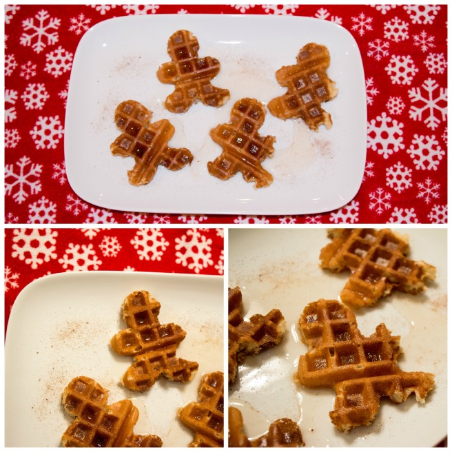 Gingerbread Man Waffles