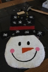 Burlap Snowman Door Hanger Tutorial