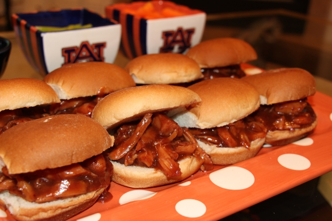 Cranberry Barbecue Turkey Sliders