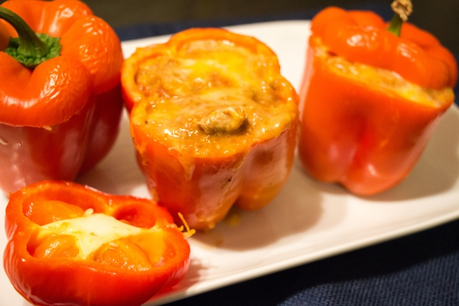 Chicken and Quinoa Stuffed Bell Peppers
