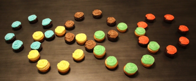 Olympics Rings Cupcake Display