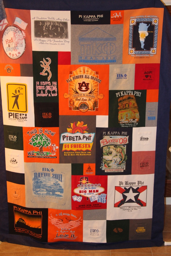Quilt from College T-Shirts