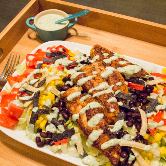 Protein Packed Southwestern Salad 1