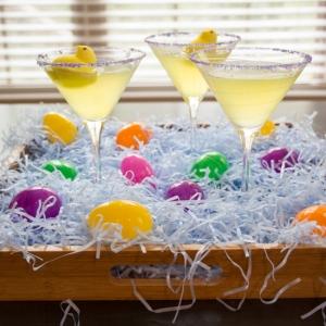 Marshmallow Peep Lemon Drop Martini