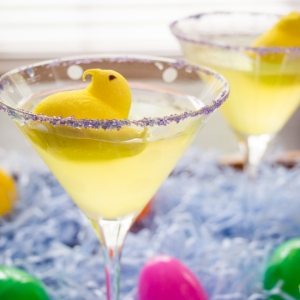 Marshmallow Peep Lemon Drop Martini