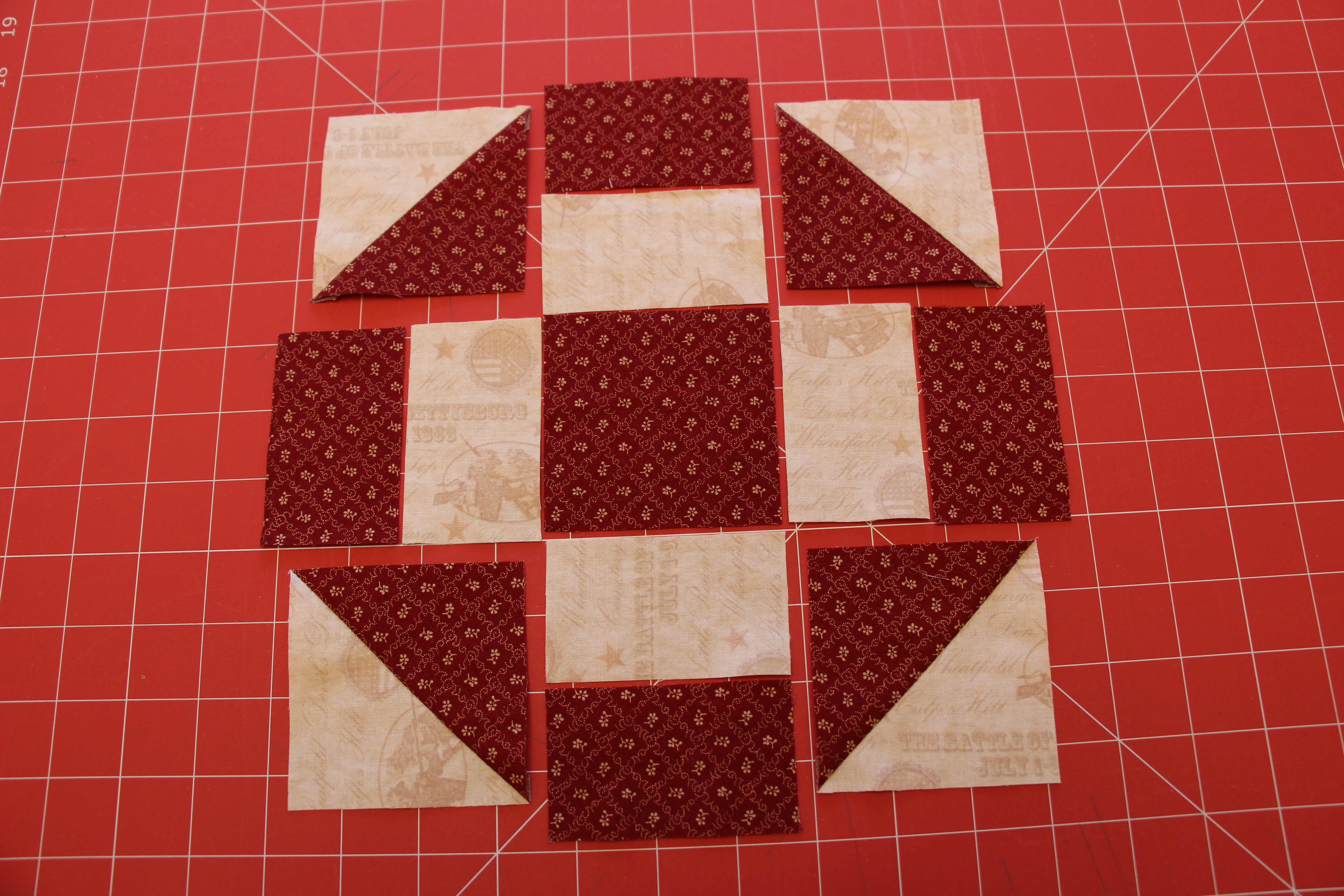 half-square triangle Sew You Think You Can Cook