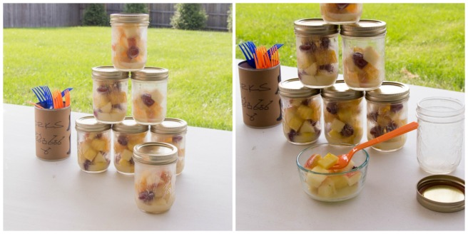 Mason Jar Fruit Salads