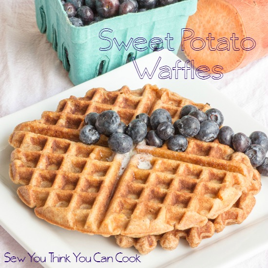 Sweet Potato Waffles for #FoodieExtravaganza from Sew You Think You Can Cook