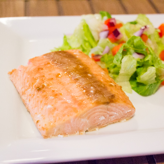 Brown Sugar Honey Mustard Glazed Salmon