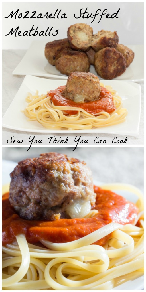 Mozzarella Stuffed Meatballs | Sew You Think You Can Cook