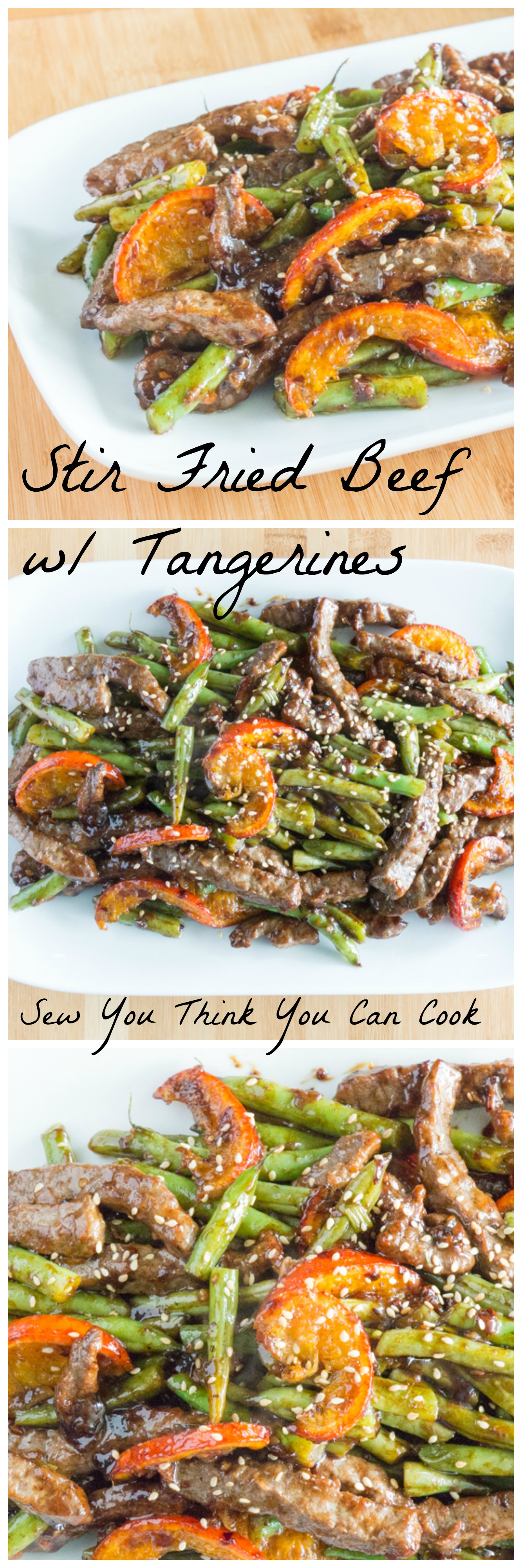 Stir fried beef with tangerines sew you think you can cook for What can you cook with hamburger meat