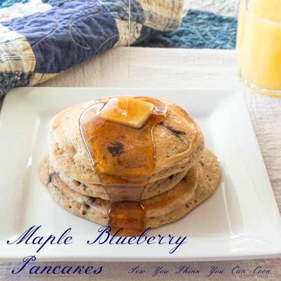 Maple Blueberry Pancakes | Sew You Think You Can Cook