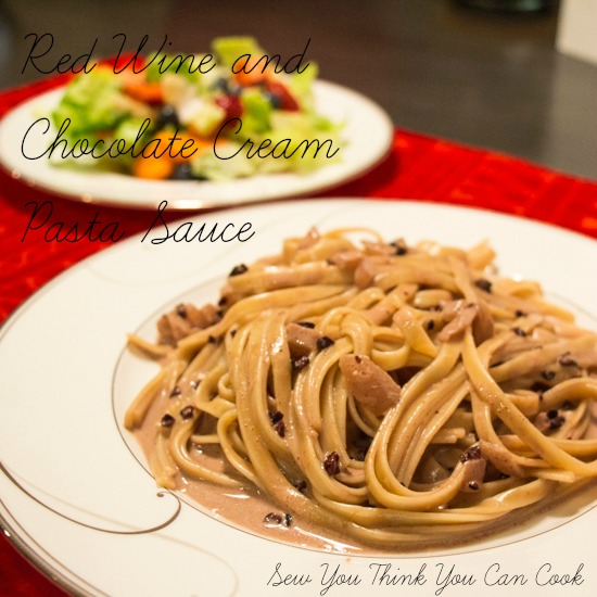 Red Wine and Chocolate Cream Sauce | Sew You Think You Can Cook