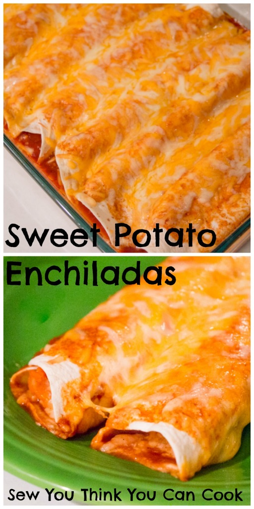 Sweet Potato Enchiladas | Sew You Think You Can Cook