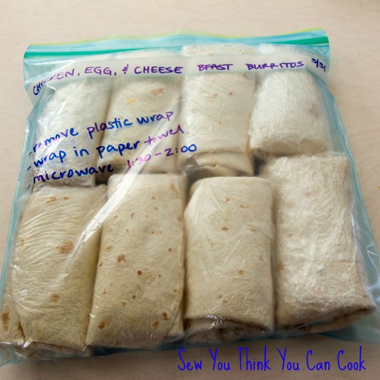 bfast burritos | sew you think you can cook