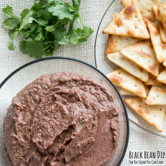 Black Bean Dip | Sew You Think You Can Cook