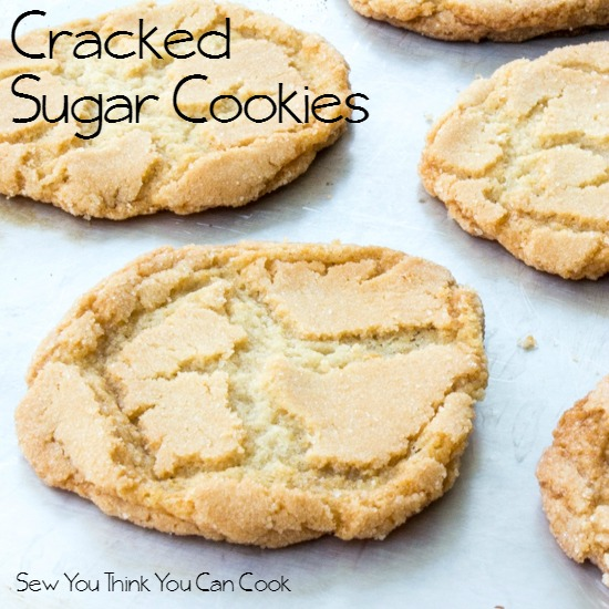 Cracked Sugar Cookies | Sew You Think You Can Cook