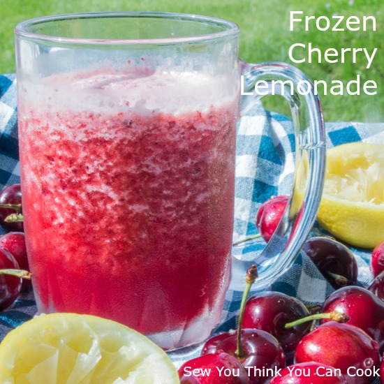 Frozen Cherry Lemonade for #HotSummerEats from Sew You Think You Can Cook