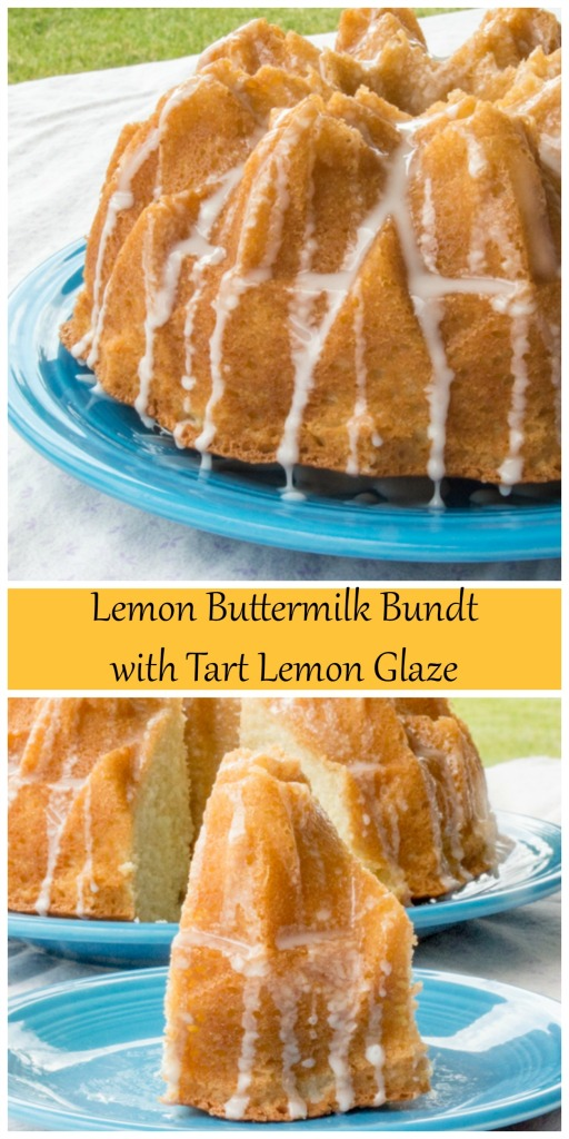Lemon Buttermilk Bundt with Tart Lemon Glaze for #BundtBakers from Sew You Think You Can Cook
