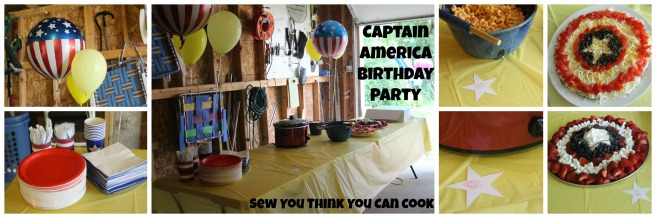 Captain America Birthday Party (food) | Sew You Think You Can Cook