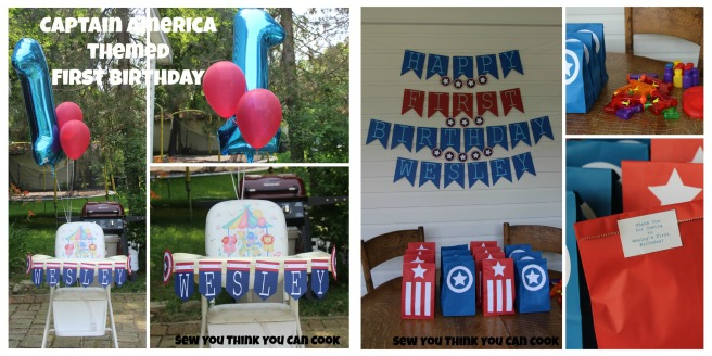 Captain America Themed First Birthday | Sew You Think You Can Cook