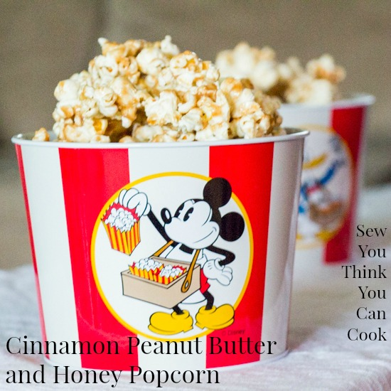Cinnamon Peanut Butter and Honey Popcorn | Sew You Think ...