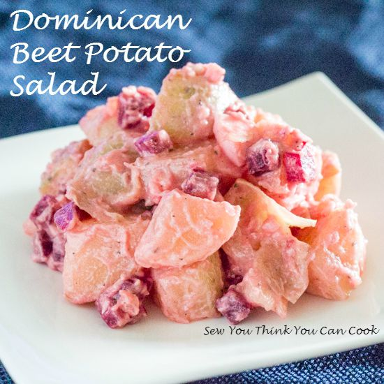 Dominican Beet Potato Salad | Sew You Think You Can Cook