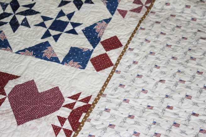 American Flag Sampler Quilt (front + back) | Sew You Think You Can Cook