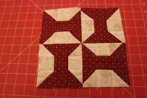 bow tie quilt block tutorial