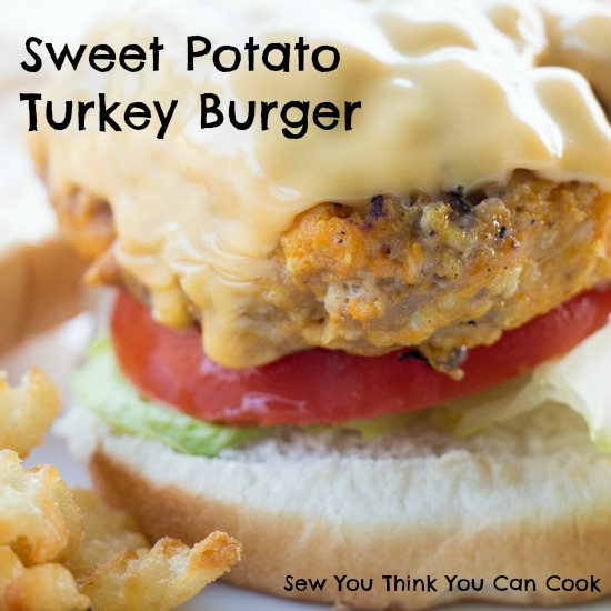 Sweet Potato Turkey Burger for Blogger CLUE from Sew You Think You Can Cook