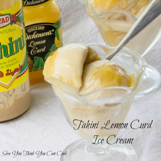 Tahini Lemon Curd Ice Cream for #FoodieExtravaganza from Sew You Think You Can Cook