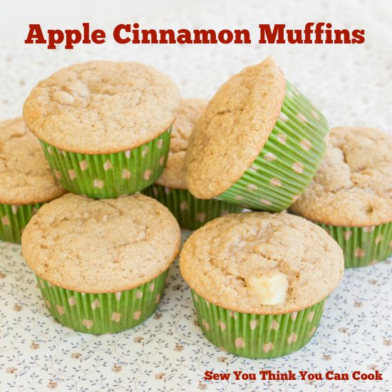 Apple Cinnamon Muffins for Secret Recipe Club from Sew You Think You Can Cook