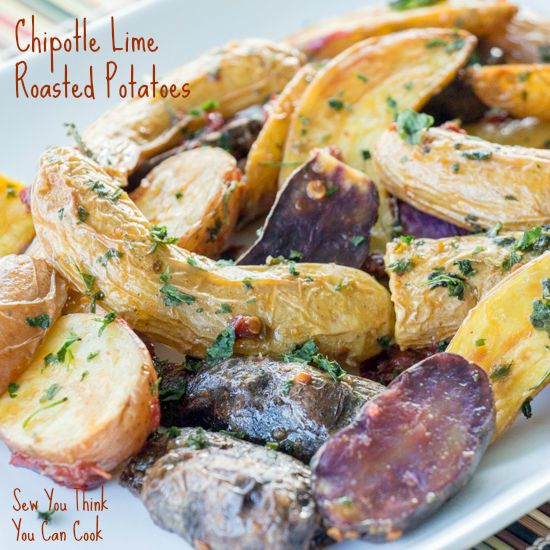 Chipotle Lime Roasted Potaotes for #FoodieExtravaganza from Sew You Think You Can Cook