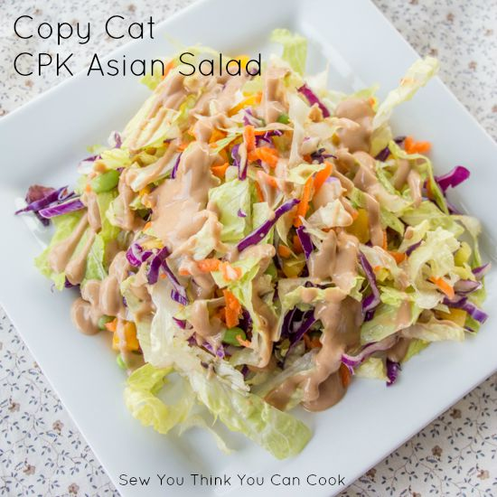Copy Cat CPK Asian Salad for #SundaySupper from Sew You Think You Can Cook