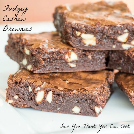 Fudgey Cashew Brownies for Crazy Ingredient Challenge from Sew You Think You Can Cook