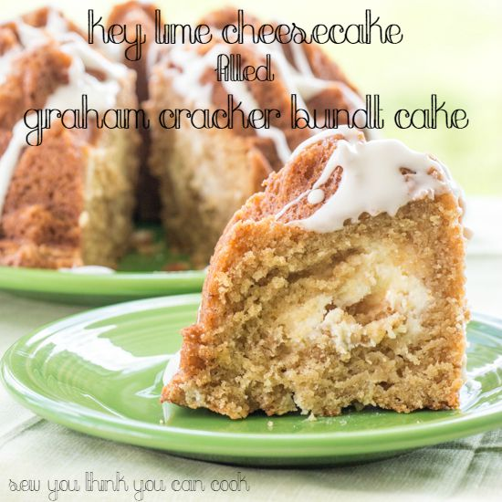 Key Lime Cheesecake Filled Graham Cracker Bundt Cake | Sew You Think You Can Cook
