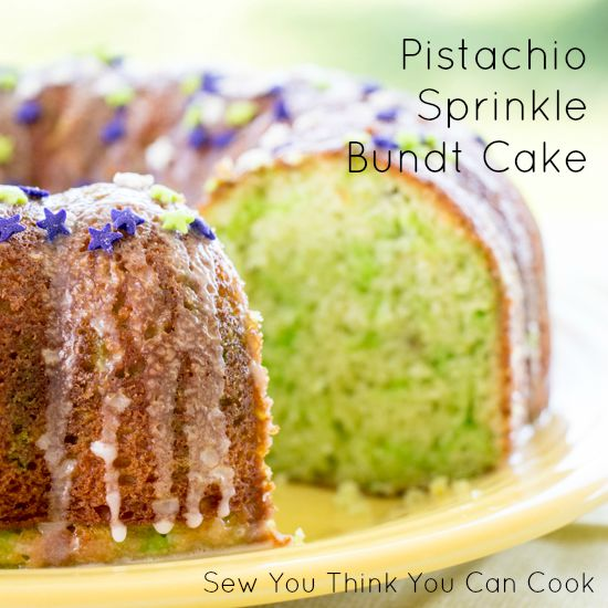 Pistachio Sprinkle Bundt Cake for #BundtBakers from Sew You Think You Can Cook