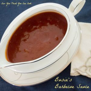Busia's Barbecue Sauce for #SundaySupper from Sew You Think You Can Cook